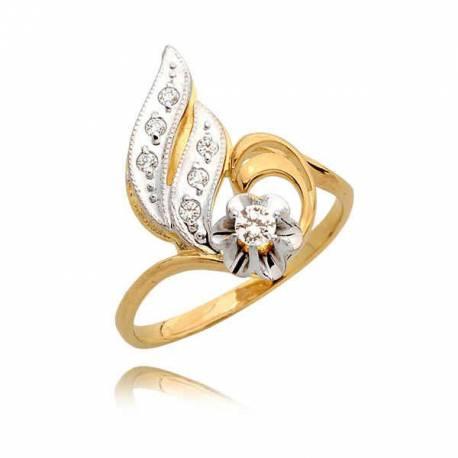 Delikatny pierścionek z cyrkoniami