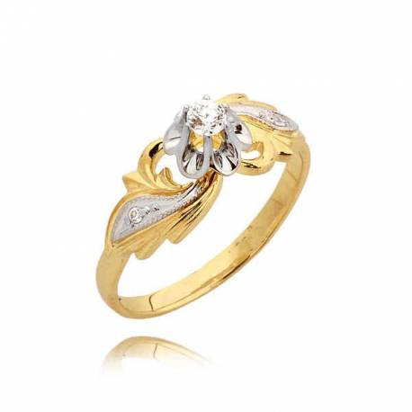 Orginalny pierścionek cyrkoniami