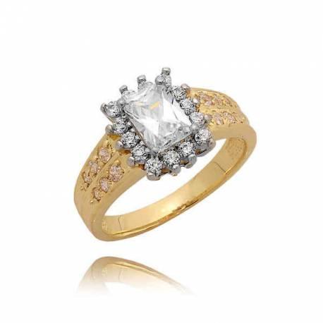 Ślicznie zdobiony złoty pierścionek