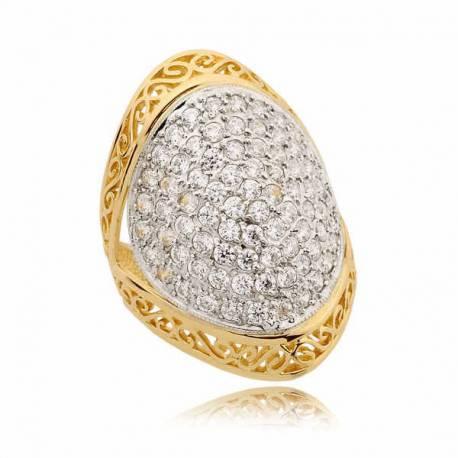 Prześliczny złoty pierścionek