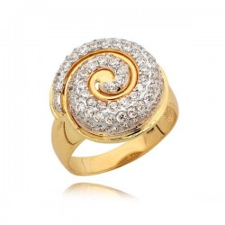 Cudowny pierścionek z motywem muszelki