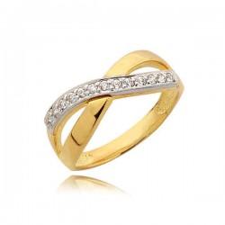 Elegancki pierścionek z cyrkoniami