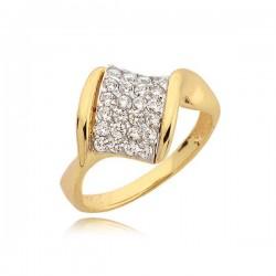 Niezwykły pierścionek z ładnie ułożonymi cyrkoniami