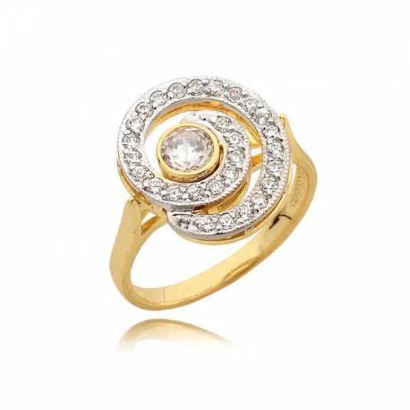 Śliczny pierścionek z ładnym motywem ślimaczka
