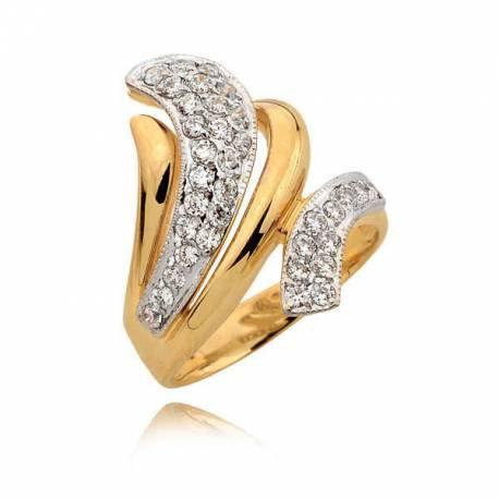 Stylowy złoty pierścionek