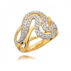 Złoty pierścionek ślicznie zdobiony