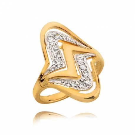 Przepięknie zdobiony pierścionek z cyrkoniami