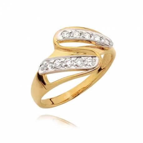 Piękny pierścionek z ładnym wzorem