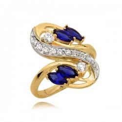 Elegancki pierścionek z czterema szafirami