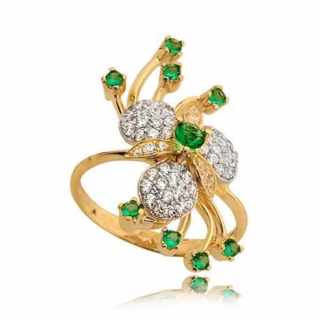 Niesamowicie bogato zdobiony pierścionek