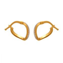 Złote kolczyki koła wzór-40672
