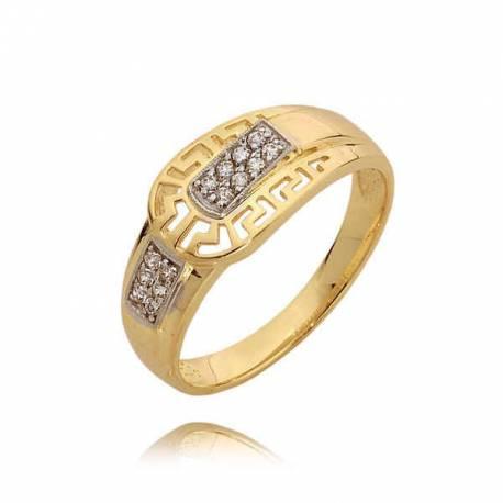 Złoty pierścionek N291