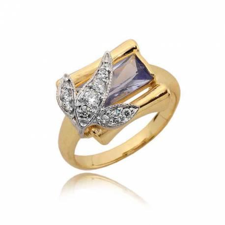 Złoty pierścionek z cyrkoniami N294