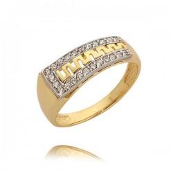 Złoty pierścionek N307