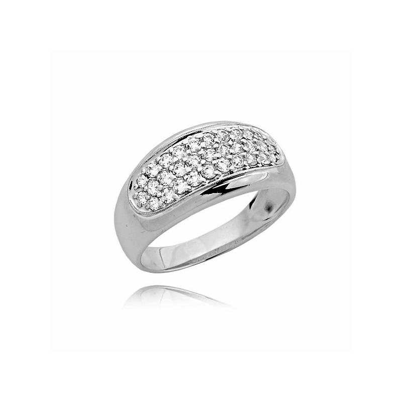 351bedeb243cd0 Śliczny złoty pierścionek z cyrkoniami z białego złota - Sklep ...