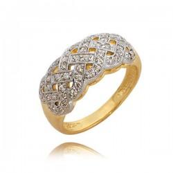 Bardzo ładnie zdobiony pierścionek