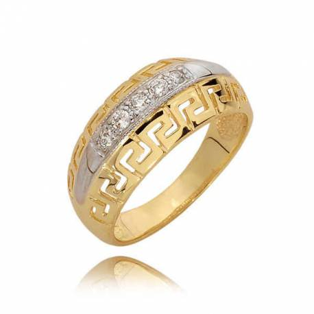 Elegancki złoty pierścionek N312
