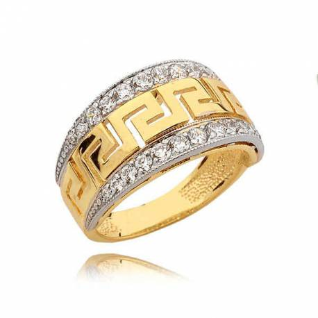 Ładnie zdobiony pierścionek