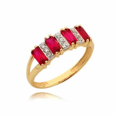 Piękny złoty pierścionek N317