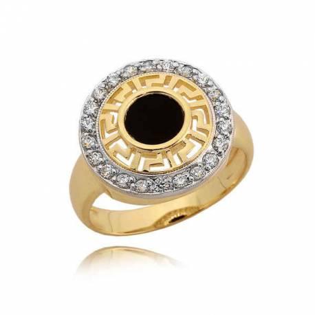 Złoty pierścionek N325