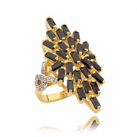 Złoty pierścionek N329