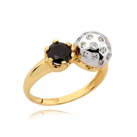 złoty pierścionek N334