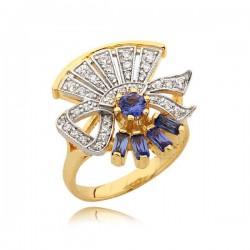 Złoty pierścionek N340