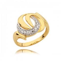 Złoty pierścionek N344