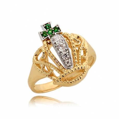 Złoty pierścionek N347