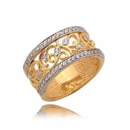 Złoty pierścionek N352