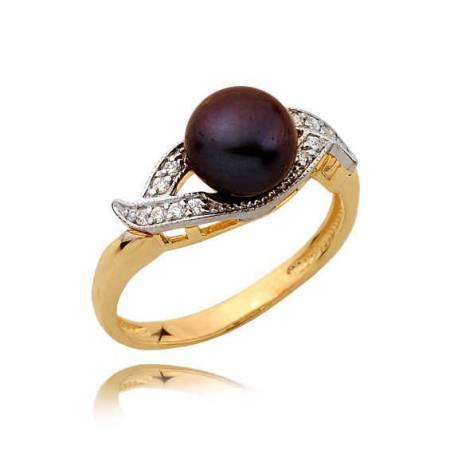 Złoty pierścionek N357