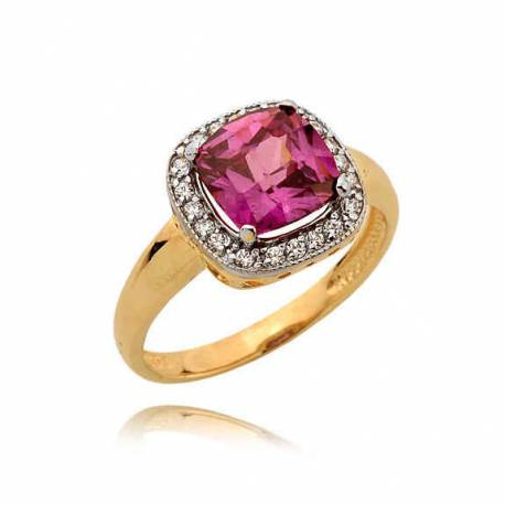 Złoty pierścionek N359