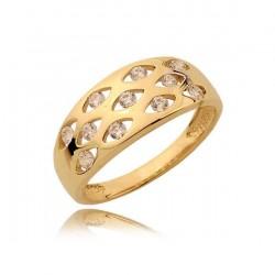 Złoty pierścionek N364