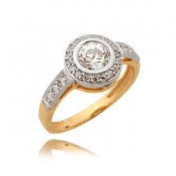 Złoty pierścionek N366