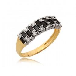 Złoty pierścionek N368