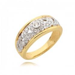 Pierścionek złoty w formie kwiatka.