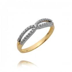 Złoty pierścionek N377