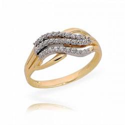 Złoty pierścionek N380