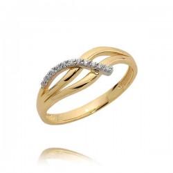 Złoty pierścionek N381