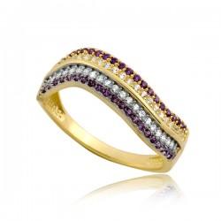Złoty damski pierścioneczek P1890