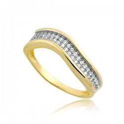 Nieduży złoty pierścionek P1892