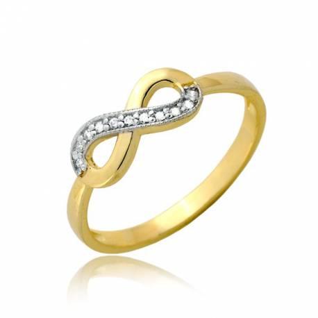 Niepozorny damski złoty pierścionek P1897