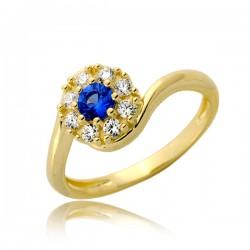 Migotliwy kobiecy złoty pierścionek P1900