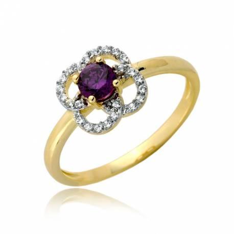 Urokliwy złoty pierścionek P1904
