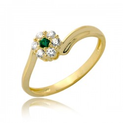 Maciupci pierścionek złoty P1907