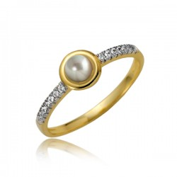 Złoty pierścionek damski P1882
