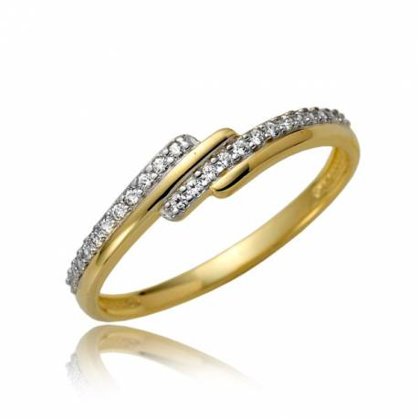 Jaśniejący damski pierścionek P1880