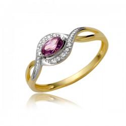 Uroczy złoty pierścionek P1879