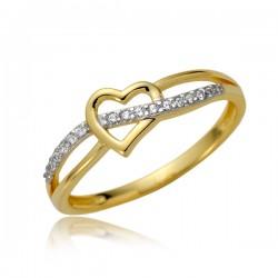 Damsji złoty pierścionek P1877
