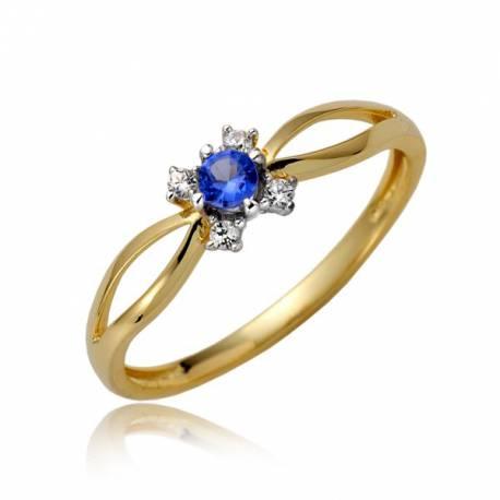 Złoty pierścionek P1876